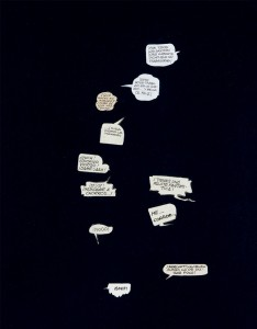 Bocadillos, Conversaciones en la oscuridad 1997. Fotografía Mark Ritchie