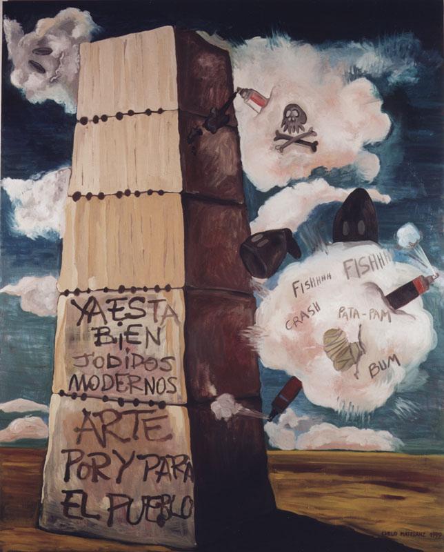Arte corregido I, 1999. Óleo sobre lino, 240 X 200 cm.