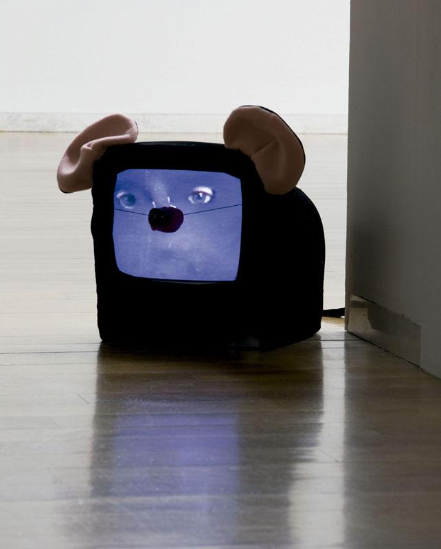 ¡Cuidado-que-todo-lo-veo!.2000. (Video -escultura). Fotografía Mark Ritchie