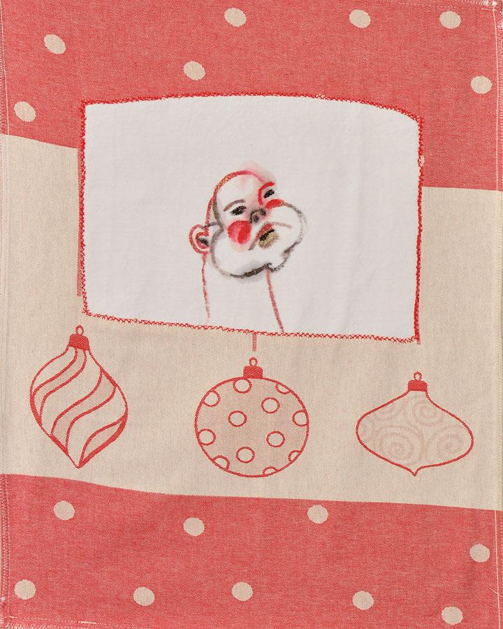 Bolas de navidad, 2007. Tela y pintura. 72 X 50 cm
