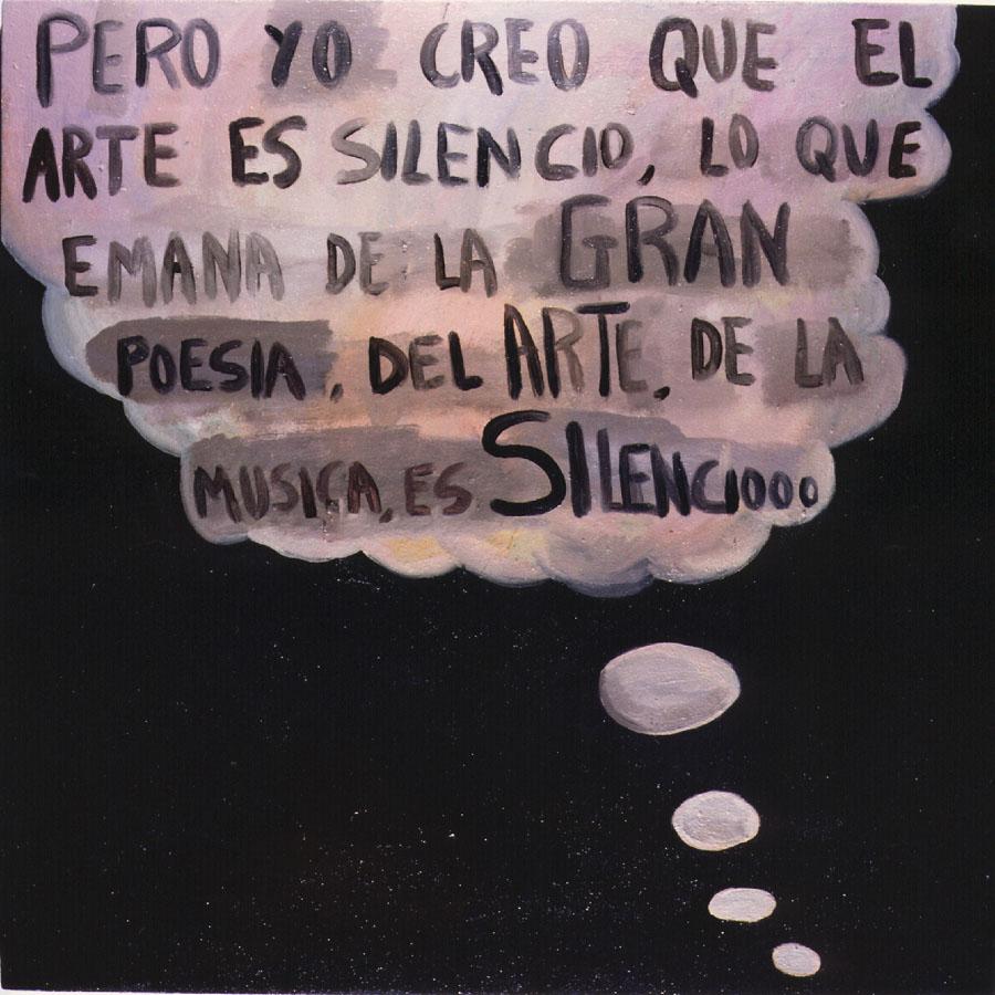 Pensamientos, 1999. Óleo sobre tela.90 x90 cm