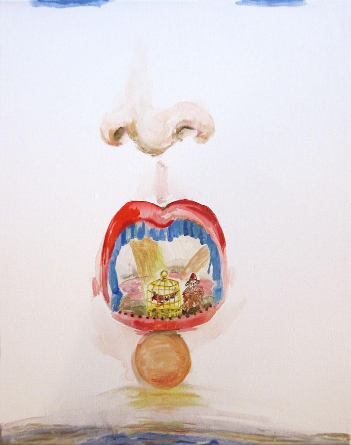 S-T, 2006. Acuarela sobre lienzo. 50 x 40 cm