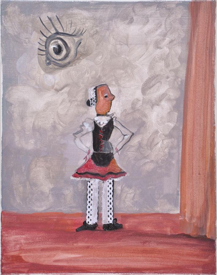 S-T, 2007. Acuarela sobre lino. 50 X 40 cm