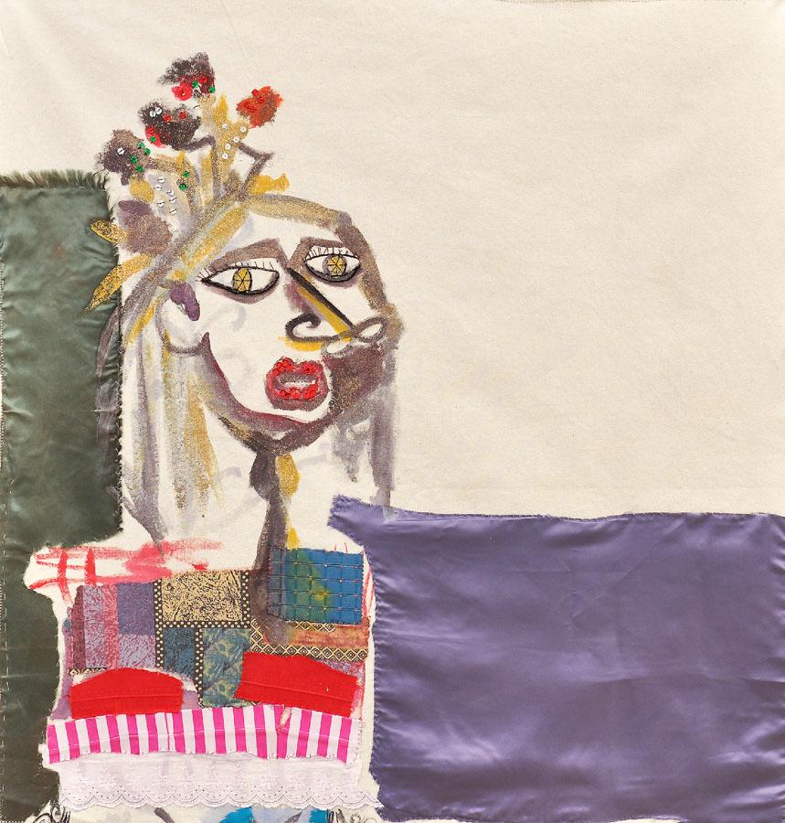 Sin título, 2009. Tela y pintura sobre loneta. 103 X 80 cm