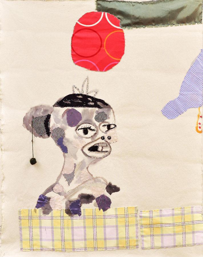 Sín título, 2009. Tela y pintura sobre loneta. 106 X 80 cm