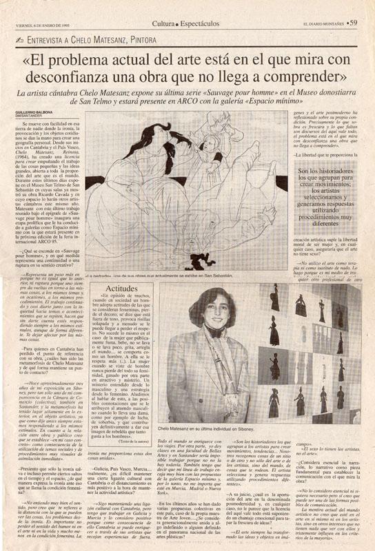 Entrevista a Chelo Matesanz, 1995
