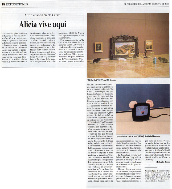 Prensa, Arte e infancia, la Caixa