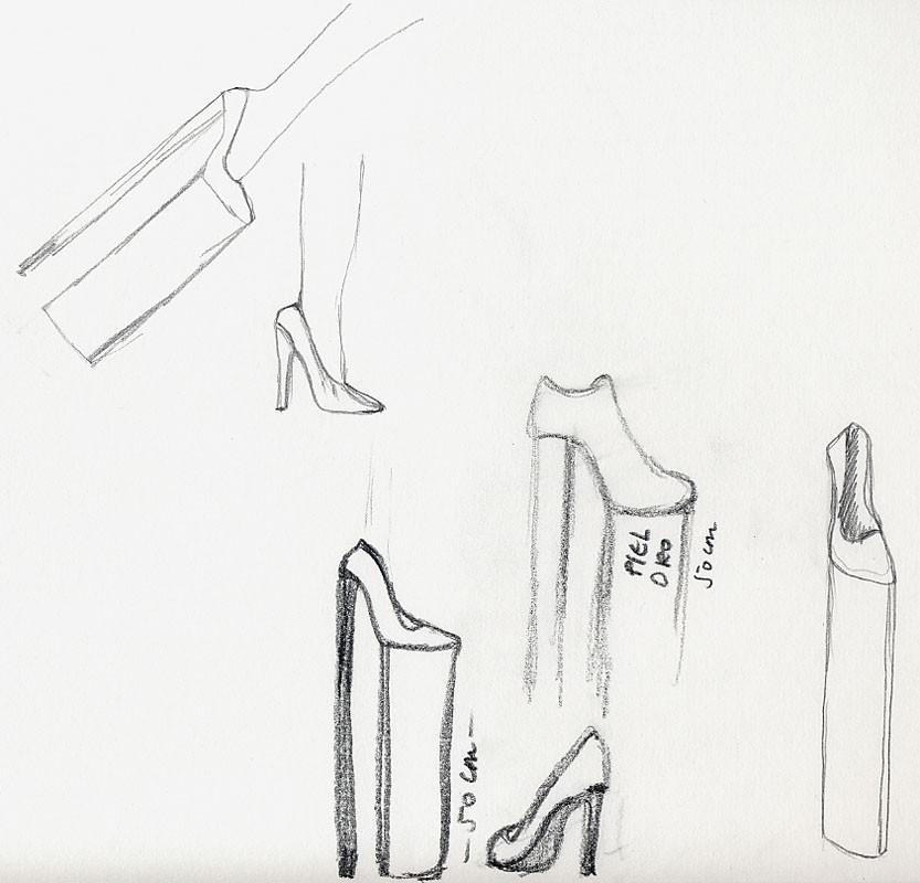 Chelo Matesanz, boceto para Me faltaba medio metro, 1992