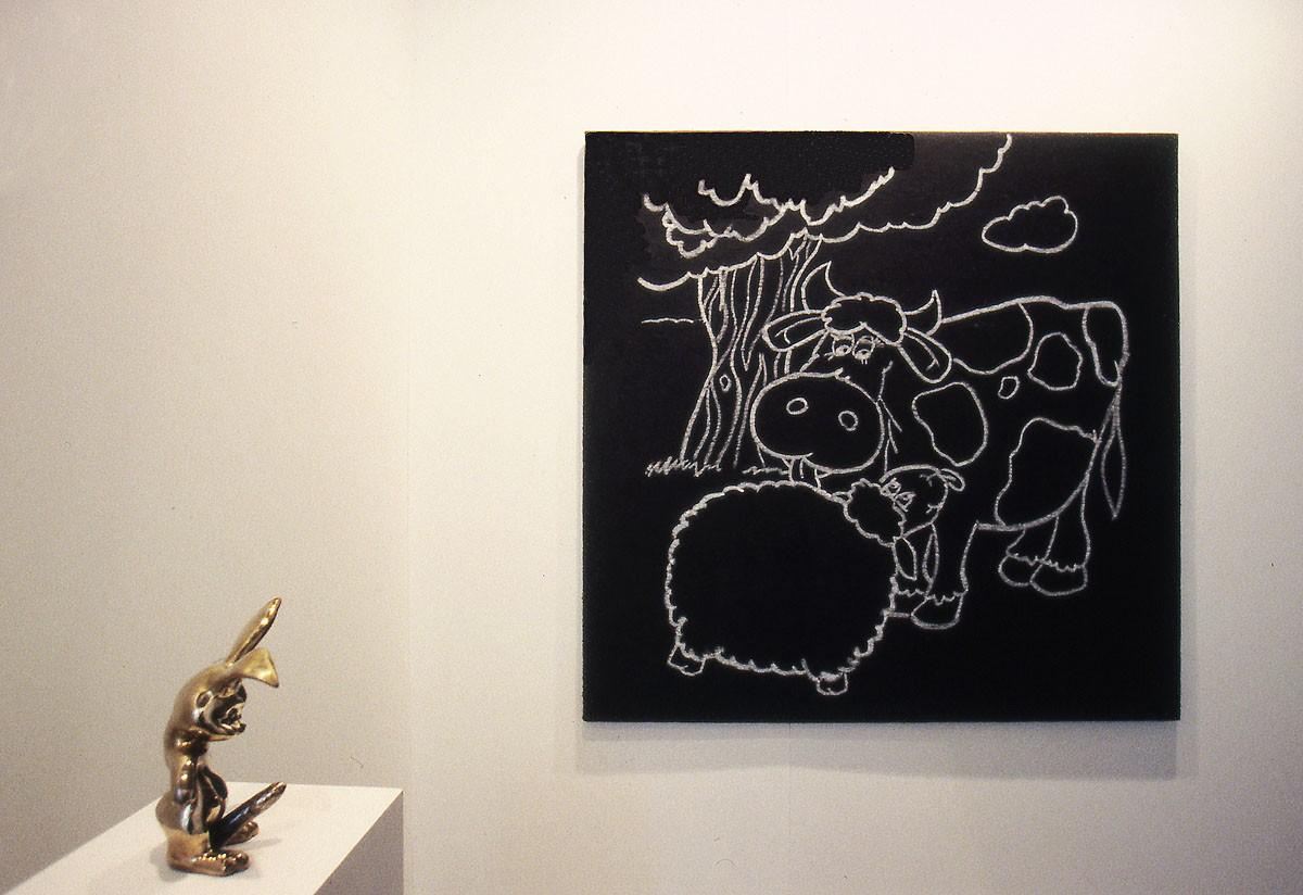 """Montaje en """"ARCO 97"""". Galería Espacio Mínimo. Madrid."""