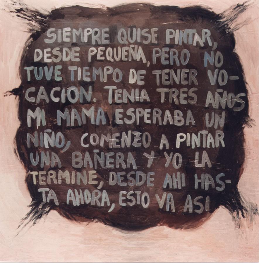 Aerolito rosa. 1999. Oleo sobre lienzo 135 x 135 cm