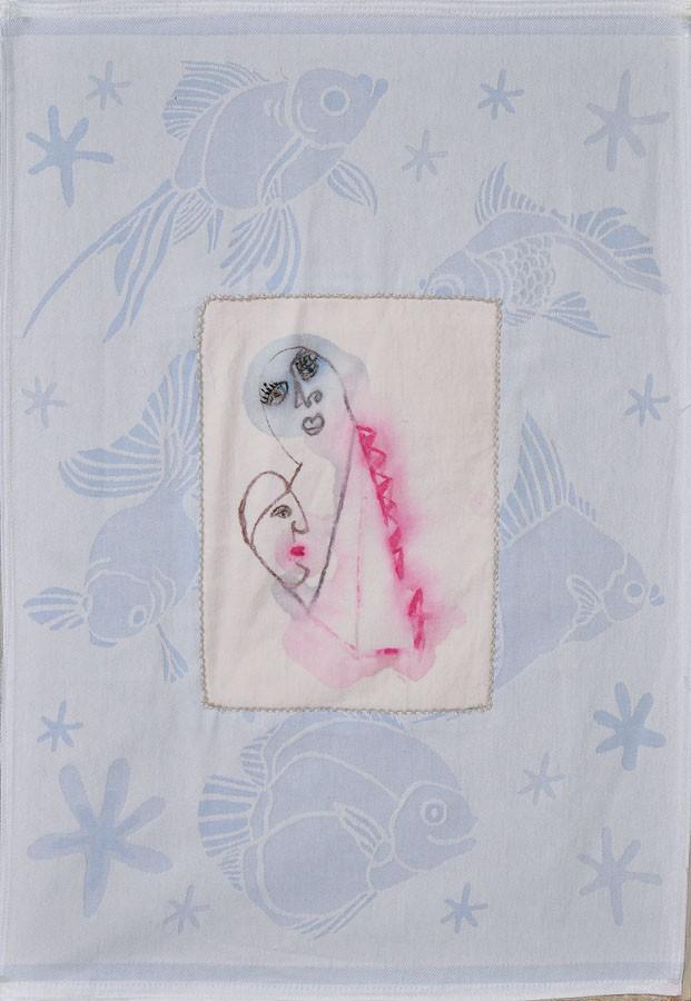 Estrellas de mar, 2007. Tela y pintura.70 X 48 cm