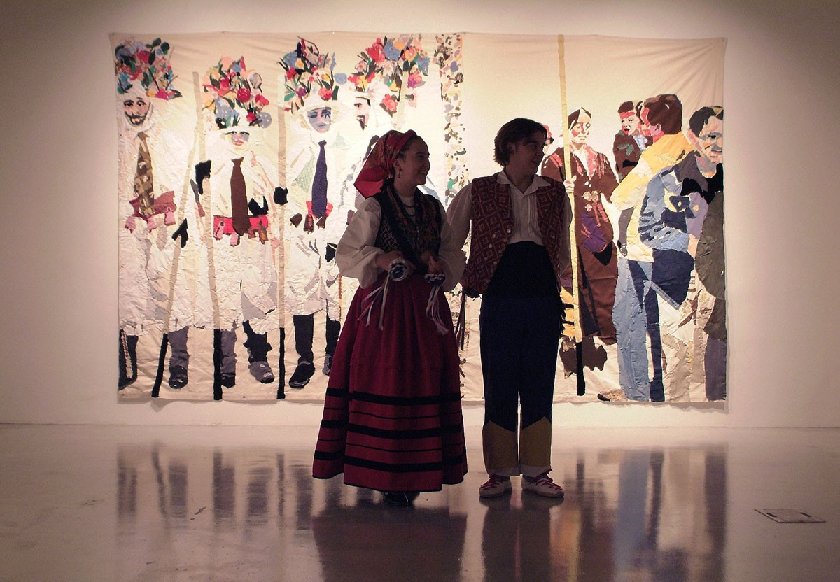 """Inauguración en la Galería del Sol St, 2006. Exposición individual """"Las flores pintadas no huelen a nada"""""""