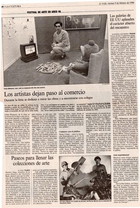 Arco, 2006 en prensa, EL PAIS, 9.2.1996