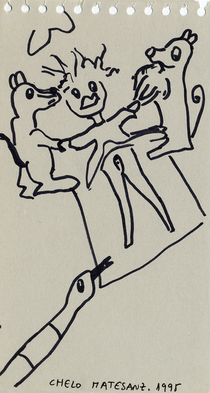 Dibujo sobre papel