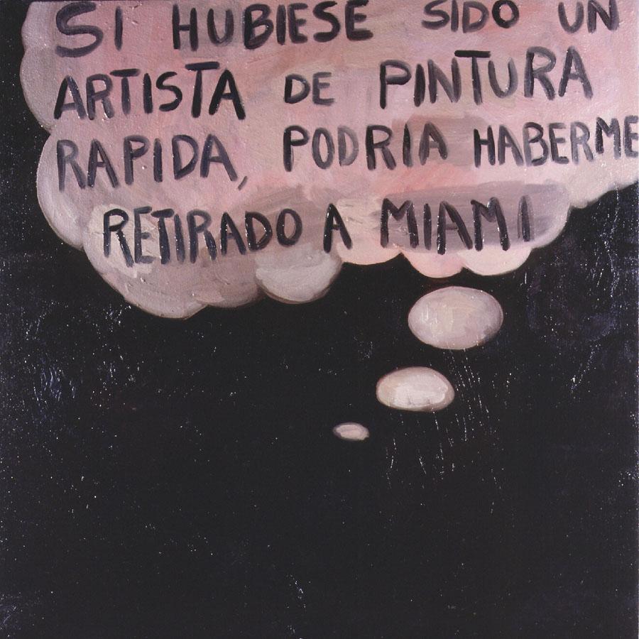 Pensamientos, 1999. Óleo sobre tela. 90 x 90 cm
