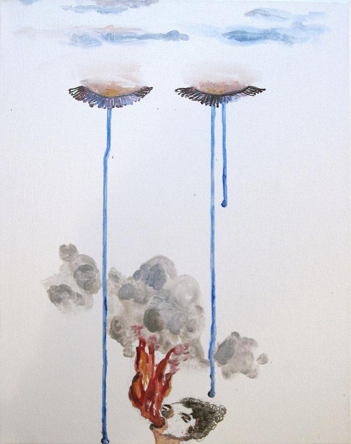 S-T, 2006. Acuarela sobre lienzo. 50 x 40cm