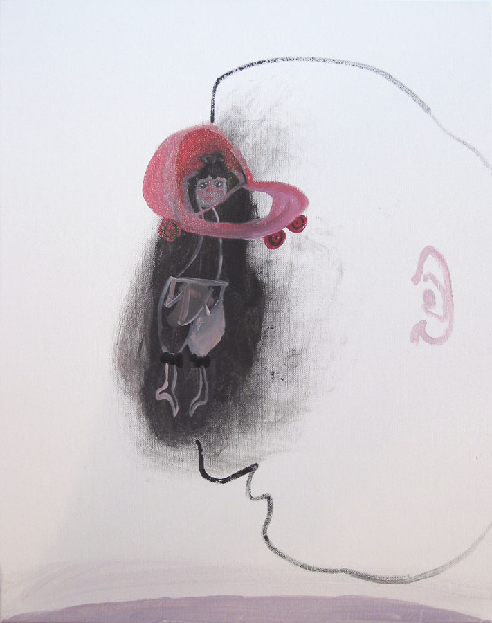 S-T, 2006. Acuarela sobre lienzo.50 x 40cm