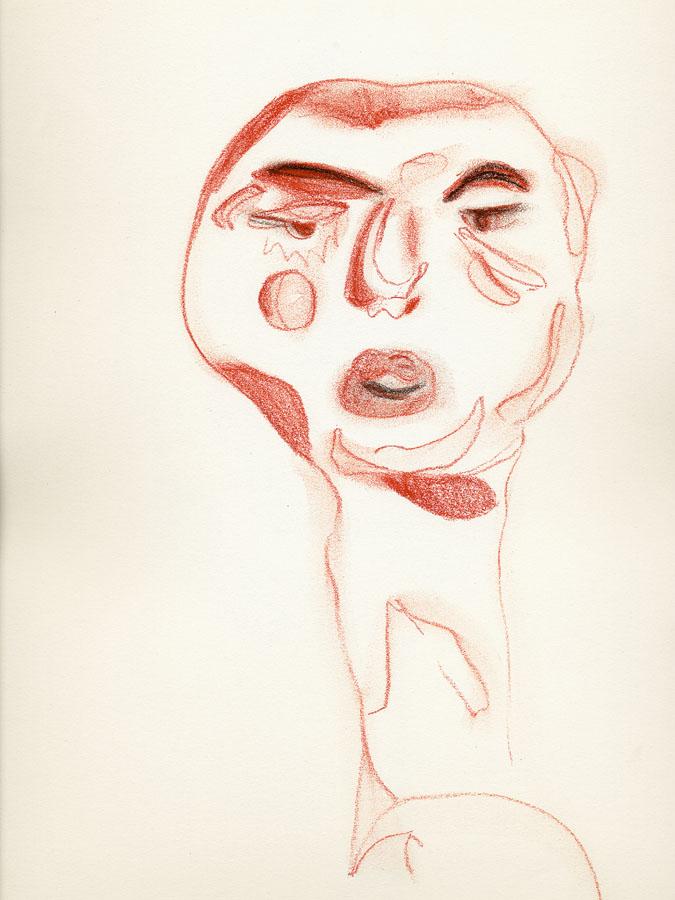 Sín título 002, 2009. Dibujo. 31 x 24 cm
