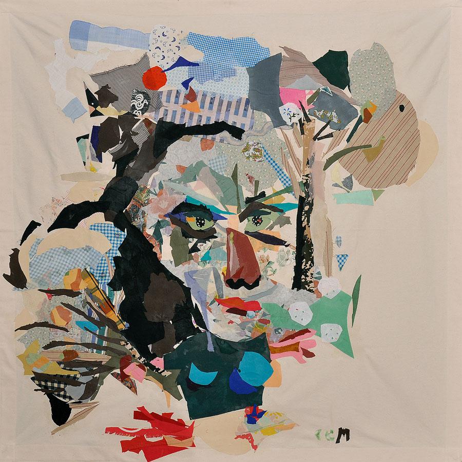 Tengo alas en los ojos y pájaros en la garganta, 2009. Tela sobre loneta. 140 X 145 cm