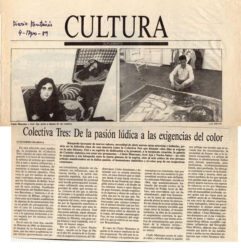 Colectiva, 1989. Galería Siboney. Crítica de Guillermo Balbona