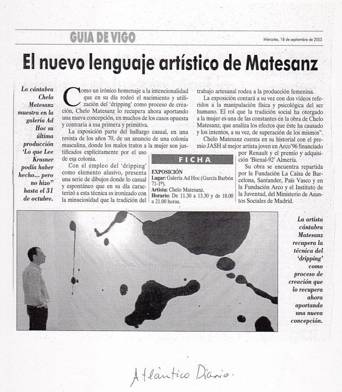 Prensa, diario atlántico, Exposición en Ad Hoc