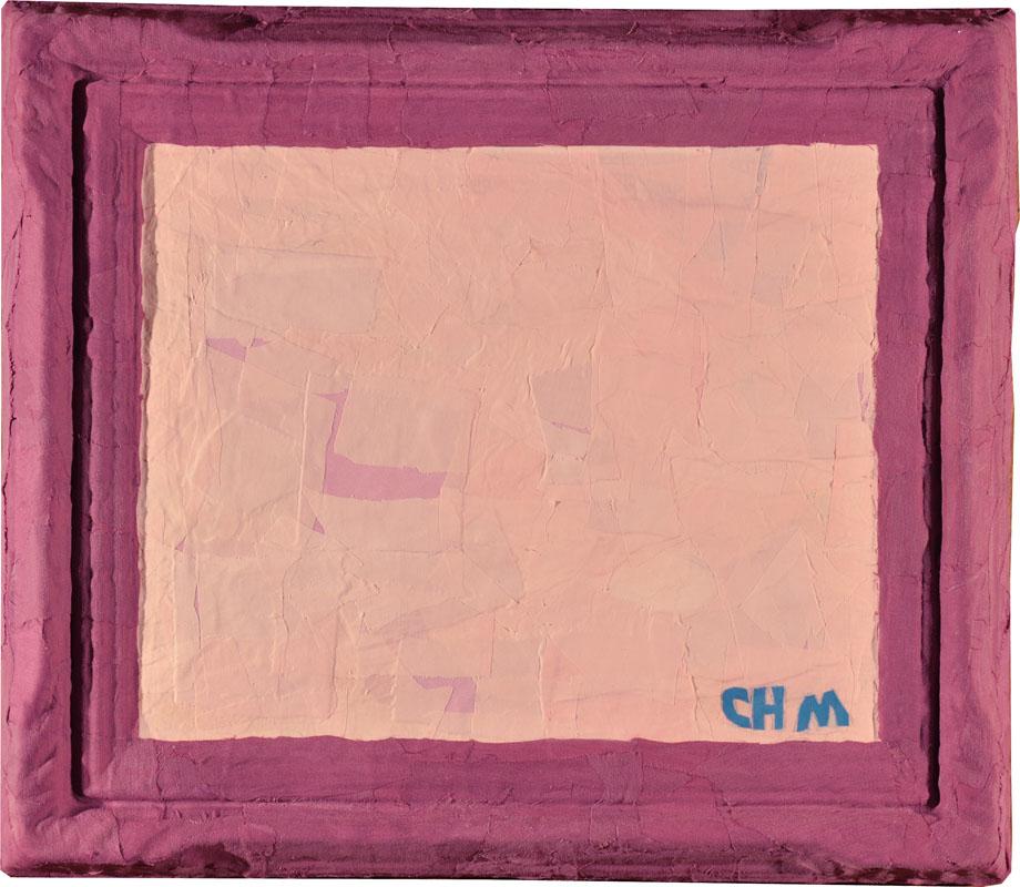 Monocromo rosa.2015. Tela pegada. 60 x50 cm