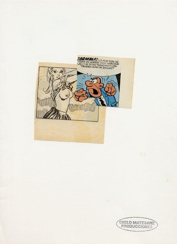 ST. Collage sobre papel