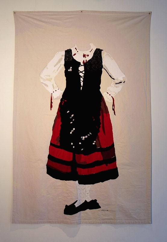 Fermosura del norte, 2006. Pespunte sobre tela. 200 X 300 cm