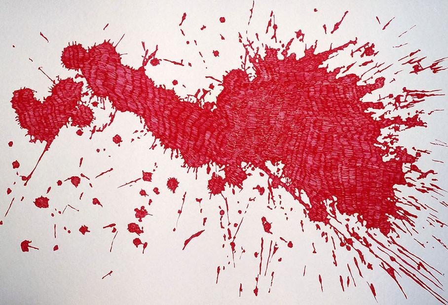 Tinta sobre papel. 70 X 100 cm