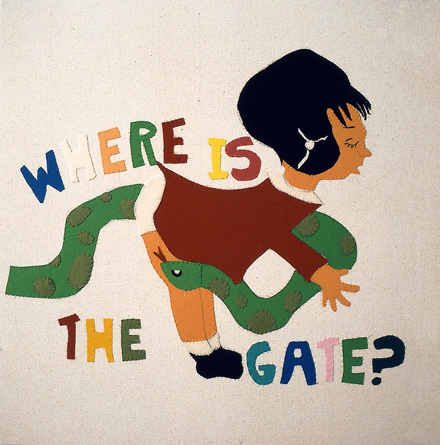 Where is the gate?, 1995. Fieltro cosido sobre loneta 90 x 90 cm.