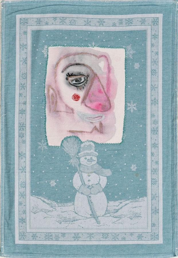Cuento de navidad, 2007. Tela y pintura. 72 X 50 cm