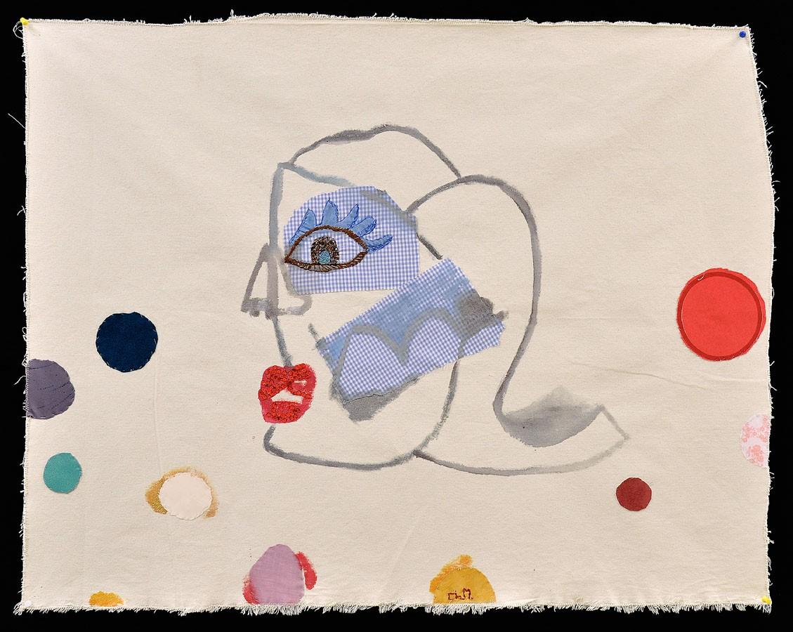 Sín título, 2009. Tela y pintura. 84 X 79 cm