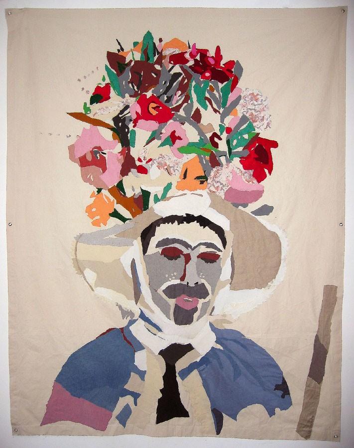 Zamarrón, 2006. Pespunte sobre tela. 260 X 186 cm