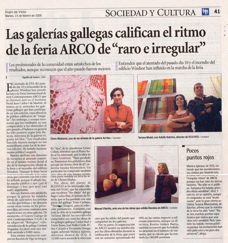Prensa, Faro de Vigo, Arco 2005