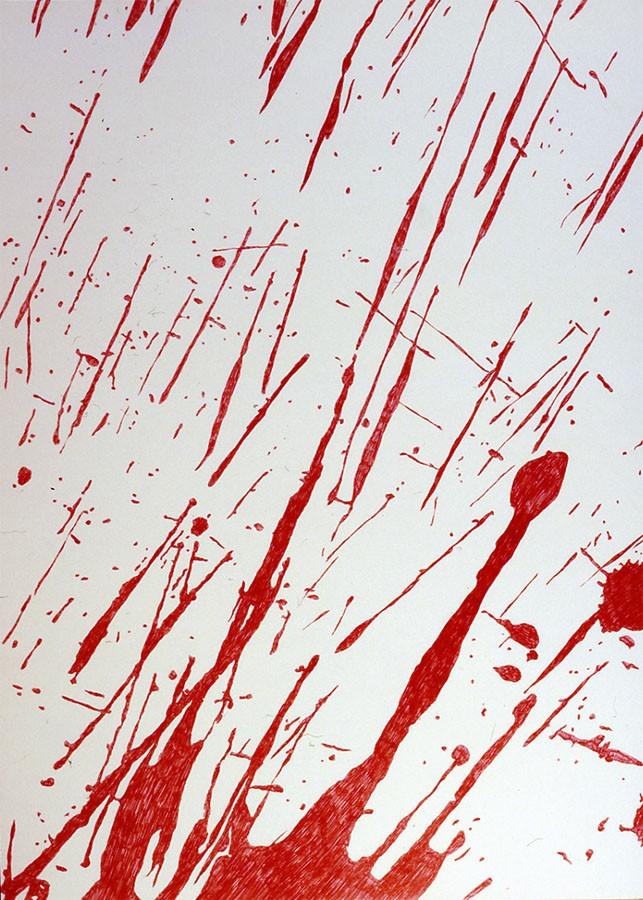 Lo que Lee Krasner podía haber hecho … pero no hizo, 2002. Tinta sobre papel. 70 x 100 cm