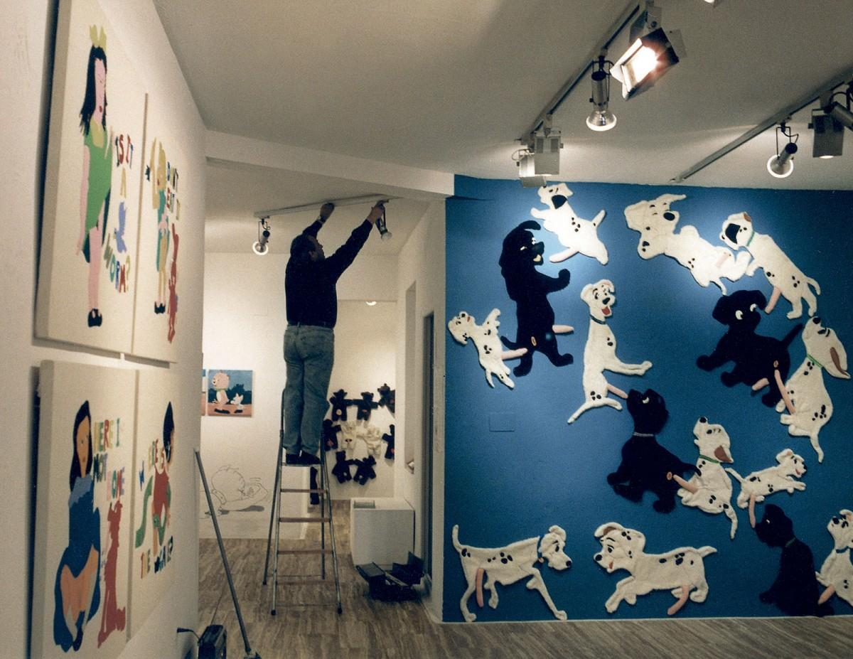 En un lugar de la Mancha.... Exibition view, Fúcares Gallery, Almagro, 1996